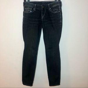Express Women's Jeans Dark Wash Size 2S